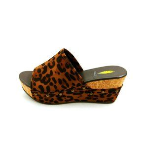 Volatile Ursula Wedge Platform Slide Sandal NEW